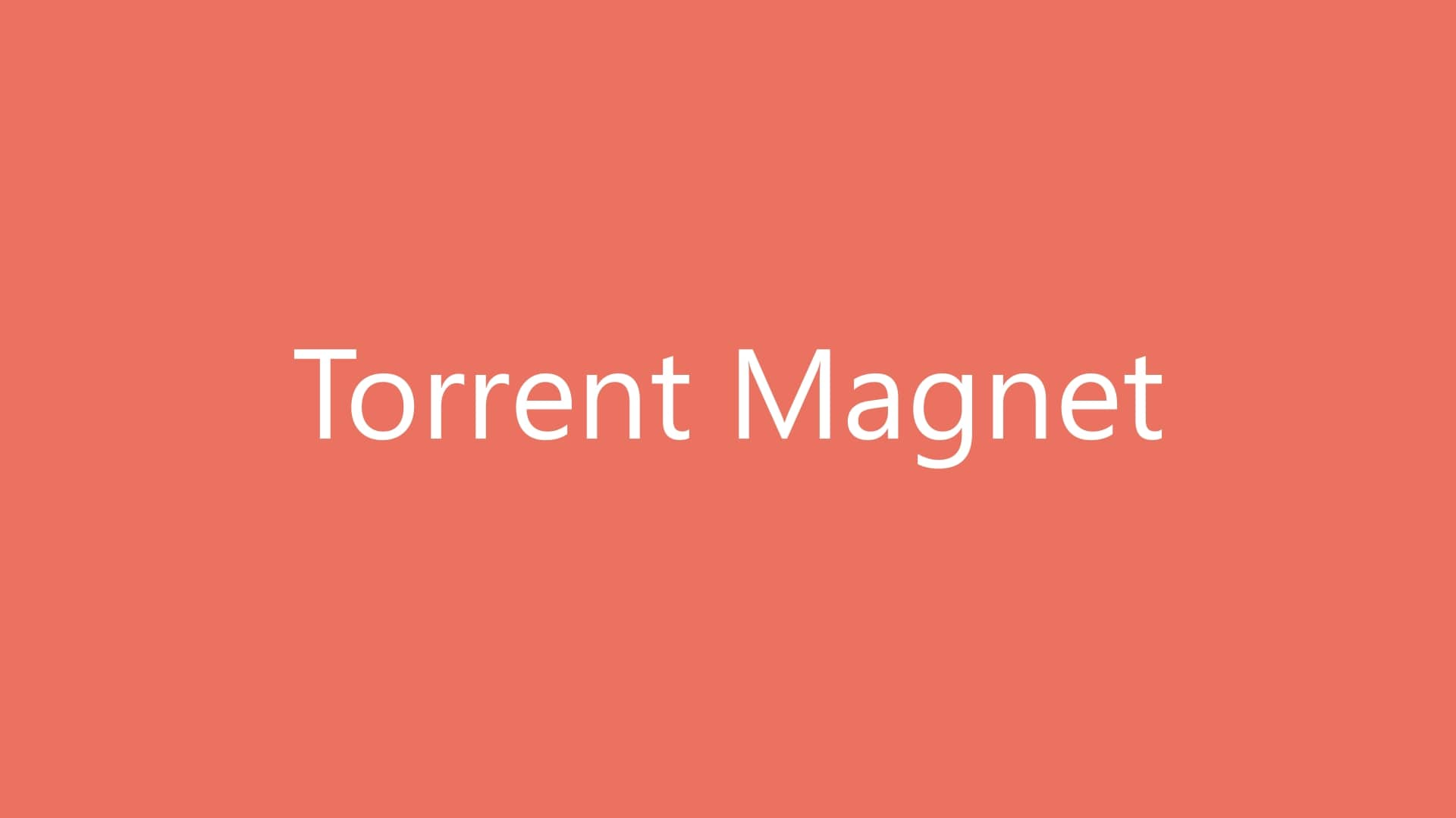 Torrent Magnet