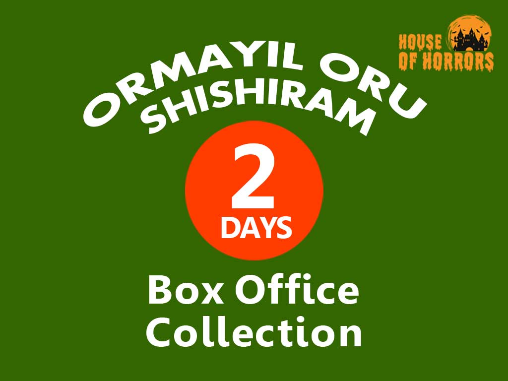 Ormayil Oru Shishiram 2nd Day Box office Collection